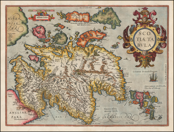 Scotland Map By Abraham Ortelius