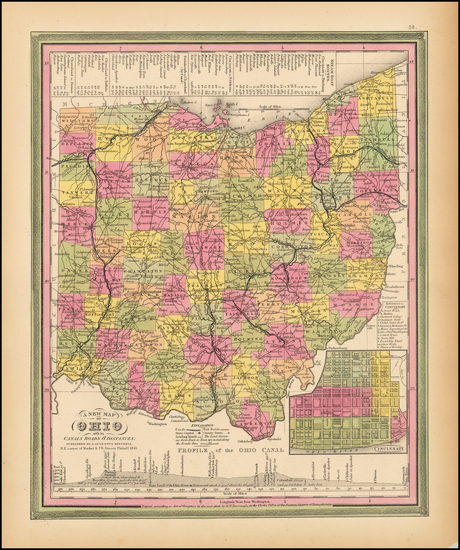 74-Midwest and Ohio Map By Samuel Augustus Mitchell
