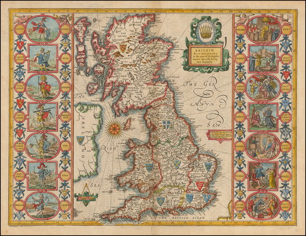 95-British Isles Map By John Speed