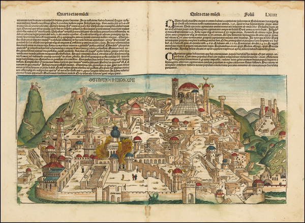 76-Holy Land Map By Hartmann Schedel