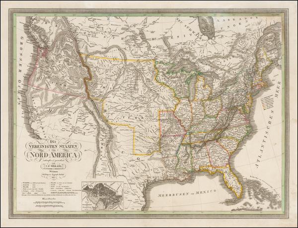 41-United States and Texas Map By Carl Ferdinand Weiland