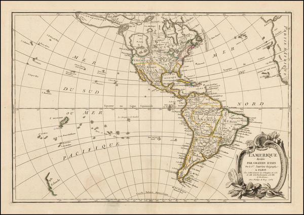 89-South America and America Map By Jean Janvier