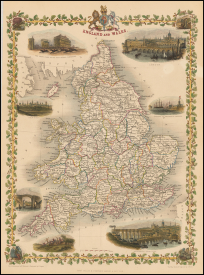 60-British Isles Map By John Tallis