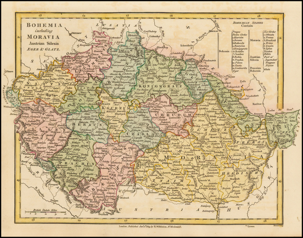 Poland, Romania and Czech Republic & Slovakia Map By Robert Wilkinson