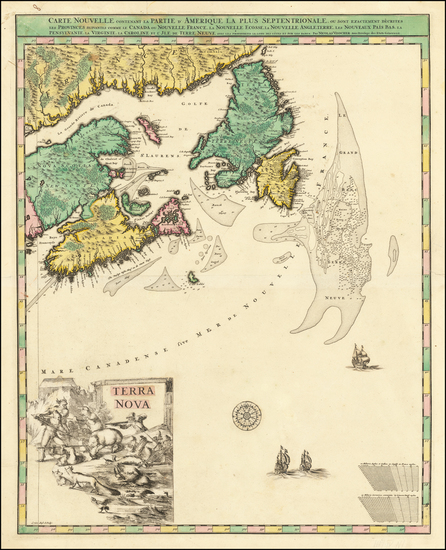 27-Canada and Eastern Canada Map By Nicolaes Visscher I