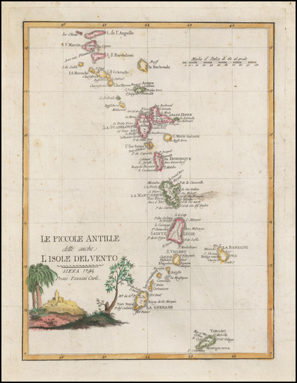 9-Caribbean and Other Islands Map By Pazzini Carli