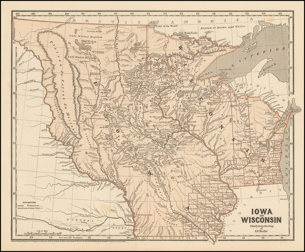 35-Midwest, Wisconsin, Plains and Iowa Map By Sidney Morse  &  Samuel Breese