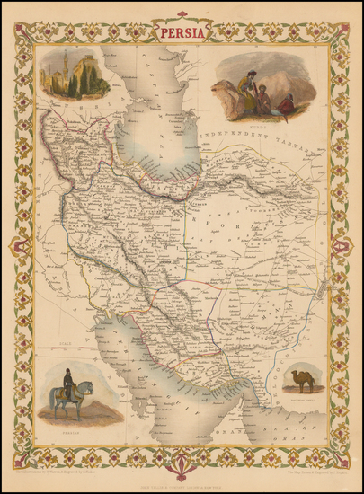 80-Central Asia & Caucasus and Middle East Map By John Tallis