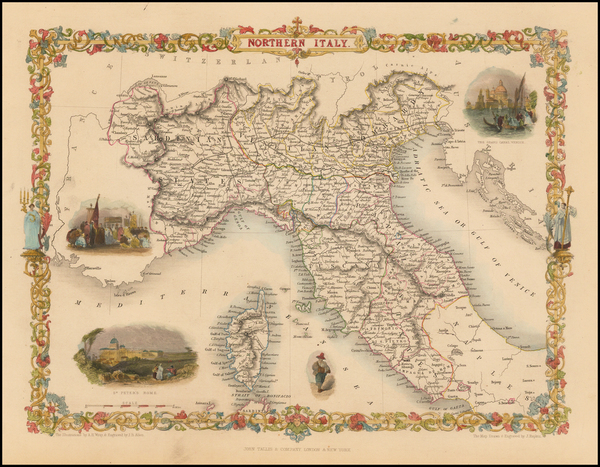 38-Italy and Balearic Islands Map By John Tallis
