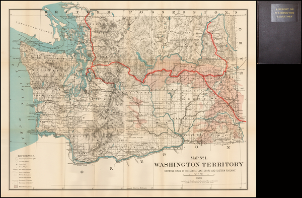 90-Washington Map By Flemming, Brewster & Alley