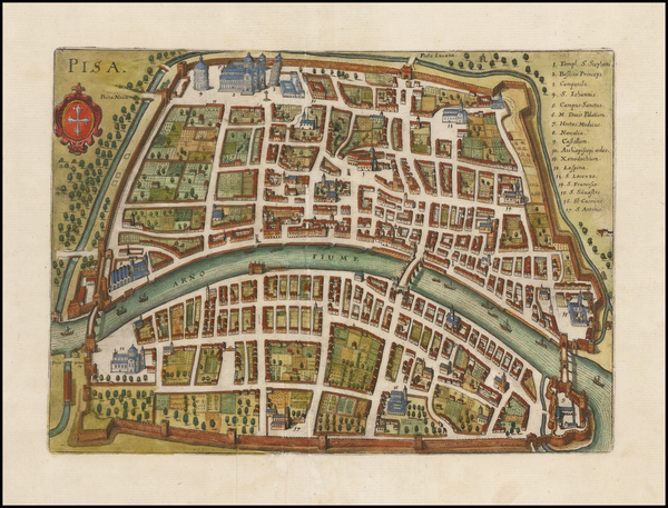 75-Italy, Northern Italy and Other Italian Cities Map By Matthaus Merian
