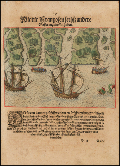 59-Florida and Southeast Map By Theodor De Bry