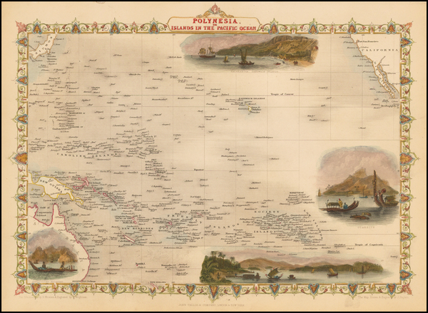 16-Pacific, Oceania, Hawaii and Other Pacific Islands Map By John Tallis