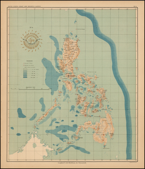 77-Philippines Map By Hoen & Co.