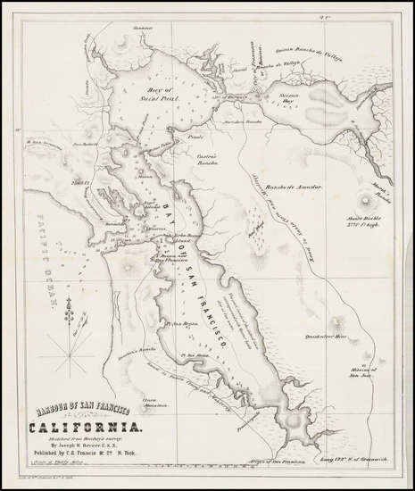 83-California and San Francisco & Bay Area Map By Joseph W. Revere