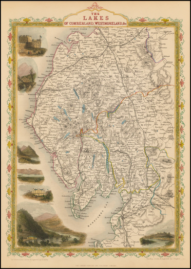 British Isles and British Counties Map By John Tallis