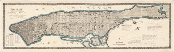 32-New York City and Mid-Atlantic Map By William Bridges