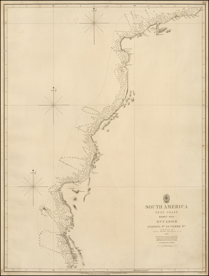 92-South America Map By British Admiralty
