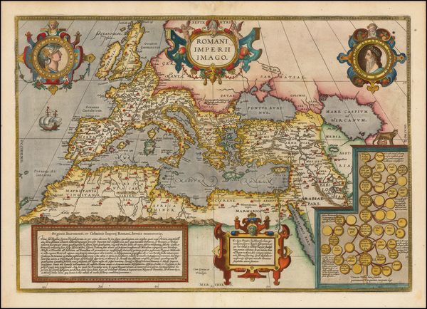 60-Europe, Italy, Mediterranean, Balearic Islands and Turkey & Asia Minor Map By Abraham Ortel