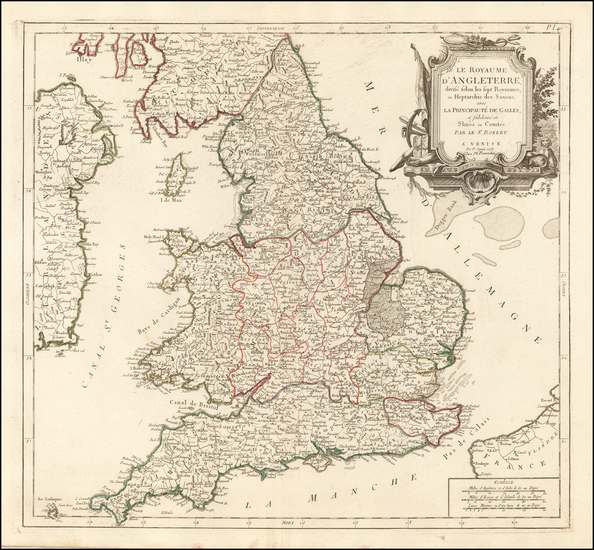 41-England Map By Giovanni Antonio Remondini
