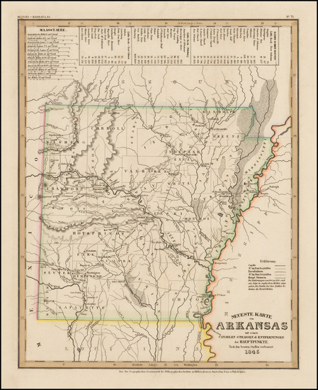 34-Arkansas Map By Joseph Meyer  &  Carl Radefeld