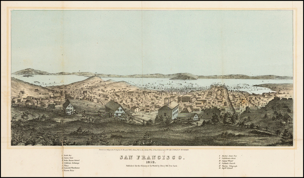 83-San Francisco & Bay Area Map By Henry Bill