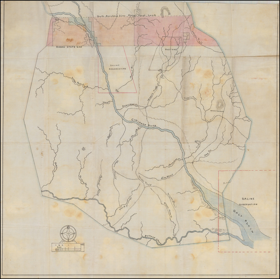 25-Plains and Oklahoma & Indian Territory Map By Anonymous