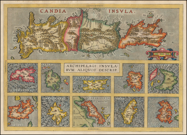42-Greece Map By Abraham Ortelius