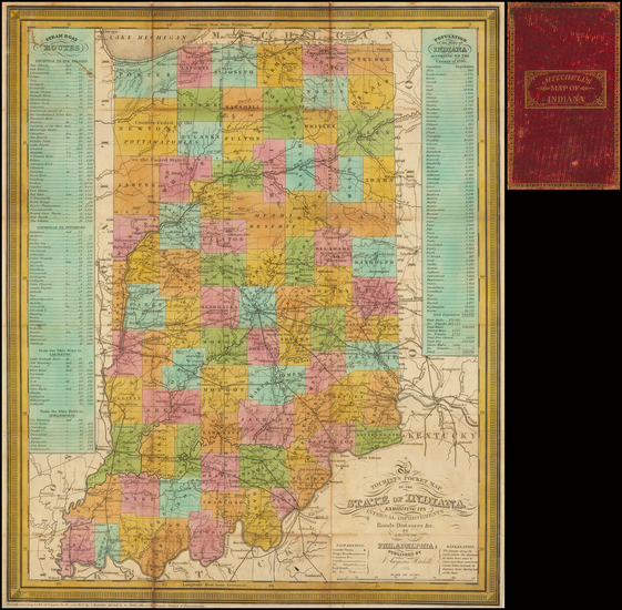 36-Midwest and Indiana Map By Samuel Augustus Mitchell
