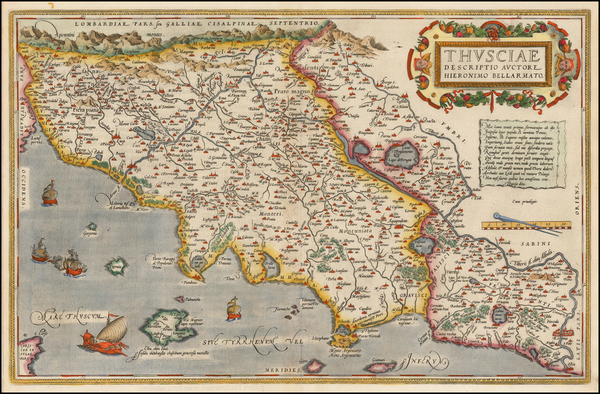 70-Northern Italy Map By Abraham Ortelius