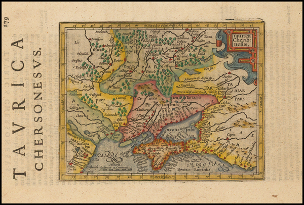 86-Russia, Ukraine and Russia in Asia Map By Henricus Hondius - Gerhard Mercator