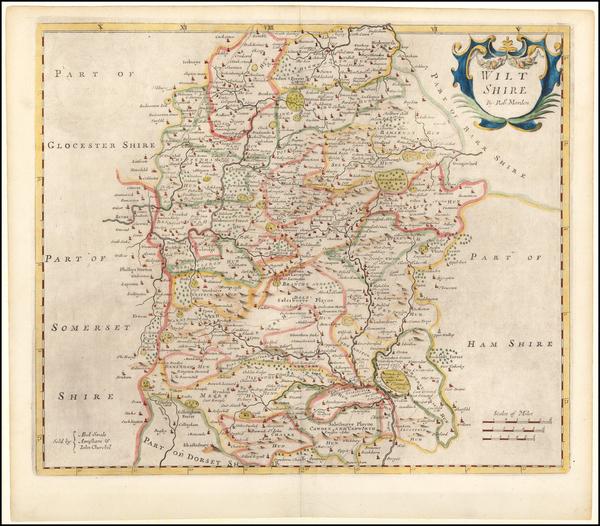 84-British Counties Map By Robert Morden