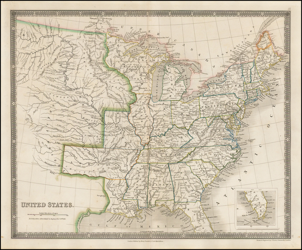 67-United States Map By Henry Teesdale