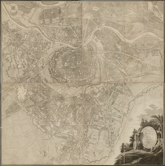 90-Austria Map By Joseph Vincenz Degen