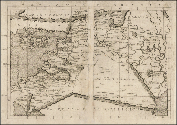 43-Cyprus, Middle East and Holy Land Map By Francesco Berlinghieri