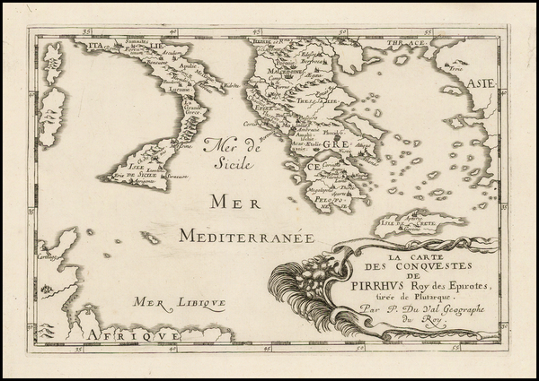 94-Southern Italy, Sicily and Greece Map By Pierre Du Val
