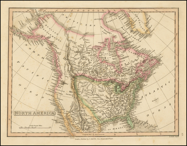 76-North America Map By Charles Smith