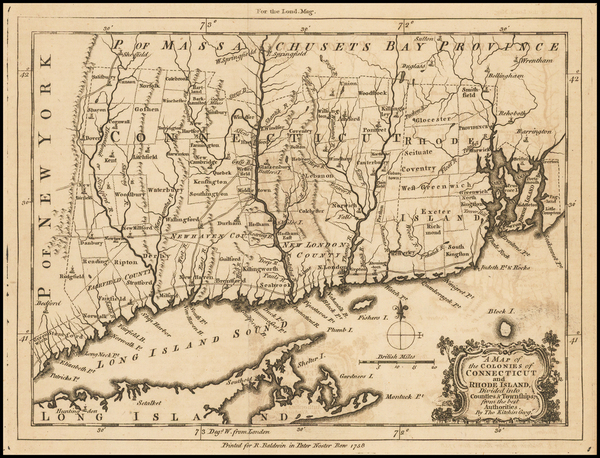 96-New England, Connecticut and Rhode Island Map By Thomas Kitchin