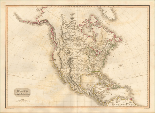 44-North America Map By John Pinkerton