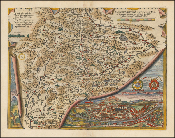 90-Austria Map By Abraham Ortelius