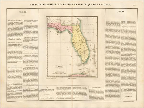 37-Florida Map By Jean Alexandre Buchon