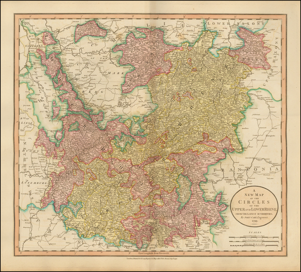 99-Germany, Austria, Czech Republic & Slovakia and Baltic Countries Map By John Cary
