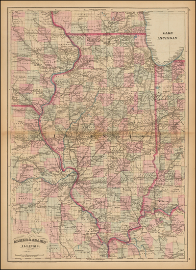 72-Midwest and Illinois Map By Asher  &  Adams