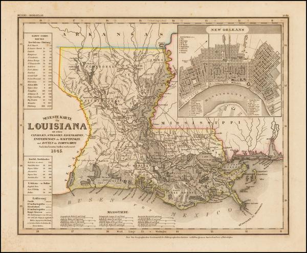 95-Louisiana Map By Joseph Meyer  &  Carl Radefeld