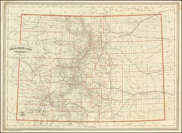62-Colorado and Colorado Map By George H. Adams & Son