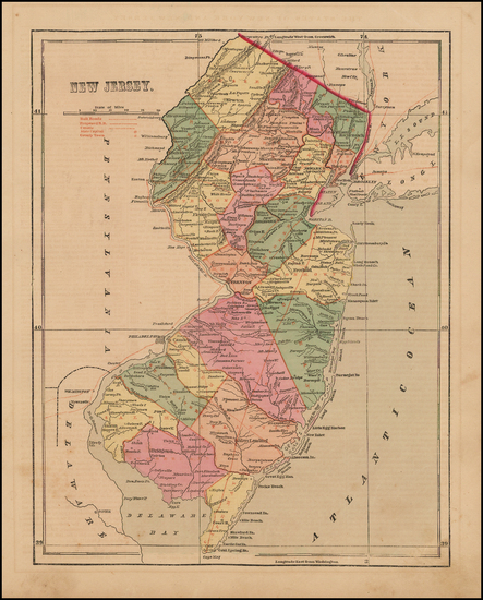 78-Mid-Atlantic and New Jersey Map By Charles Morse