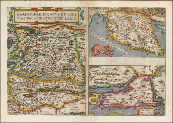 6-Hungary, Croatia & Slovenia and Northern Italy Map By Abraham Ortelius