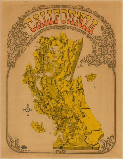 42-California Map By David Schiller