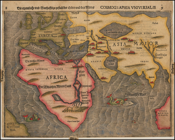 10-Eastern Hemisphere, Europe, Europe, Asia, Asia, Africa, Africa and Australia Map By Heinrich Bu