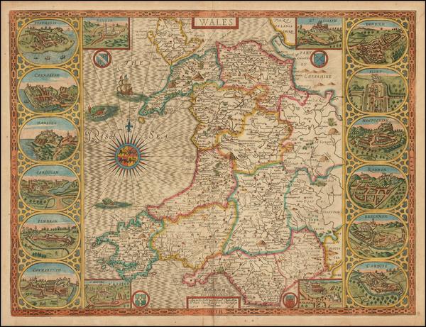 38-Wales Map By John Speed